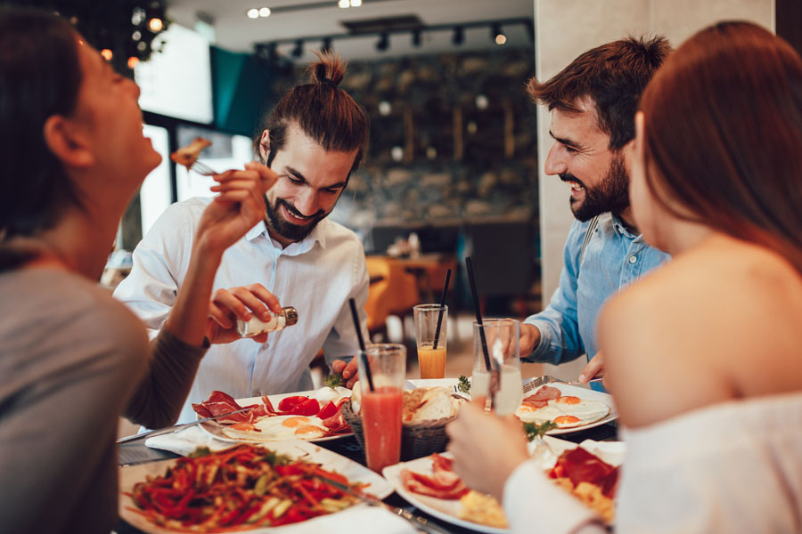 Restaurant Insurance - Group of Friends Going Out to Breakfast